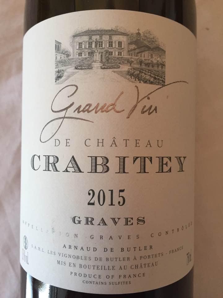 Grand Vin de Château Crabitey 2015 – Graves