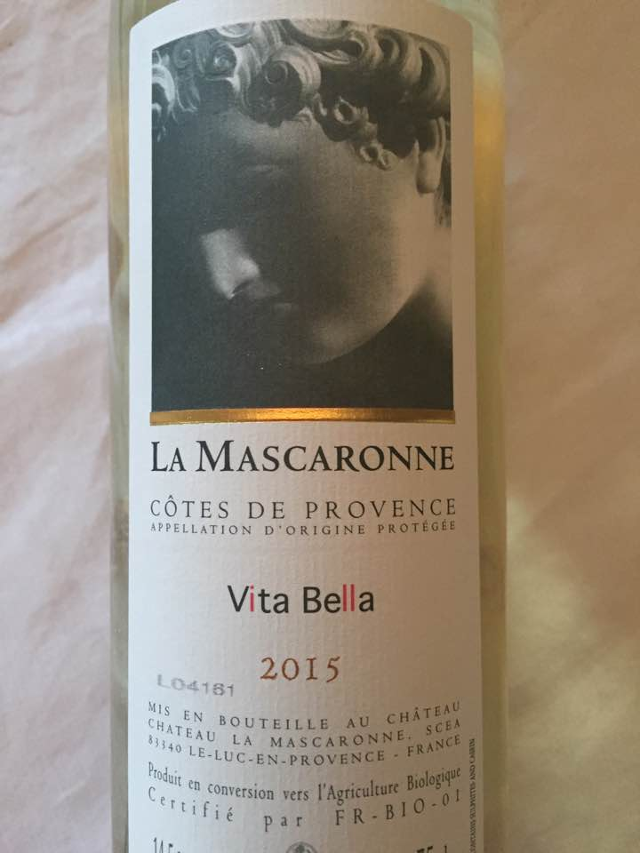 La Mascaronne – Vita Bella 2015 – Côtes de Provence