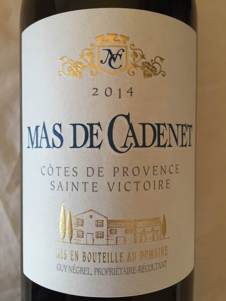 Mas de Cadenet 2014 – Côtes de Provence Sainte Victoire