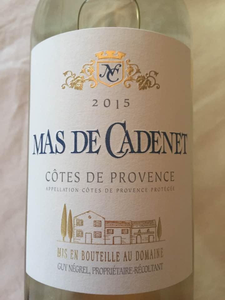 Mas de Cadenet 2015 – Côtes de Provence