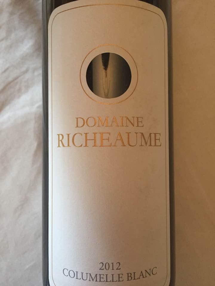 Domaine Richeaume – Columelle Blanc 2012 – IGP Méditerranée