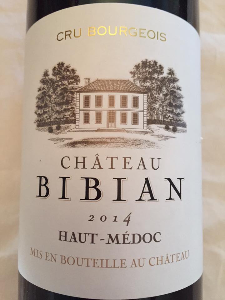 Château Bibian 2014 – Haut-Médoc – Cru Bourgeois