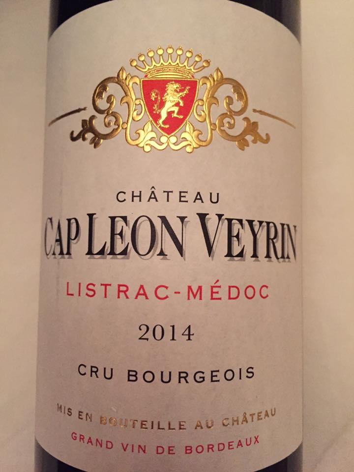 Château Cap Léon Veyrin 2014 – Listrac-Médoc– Cru Bourgeois