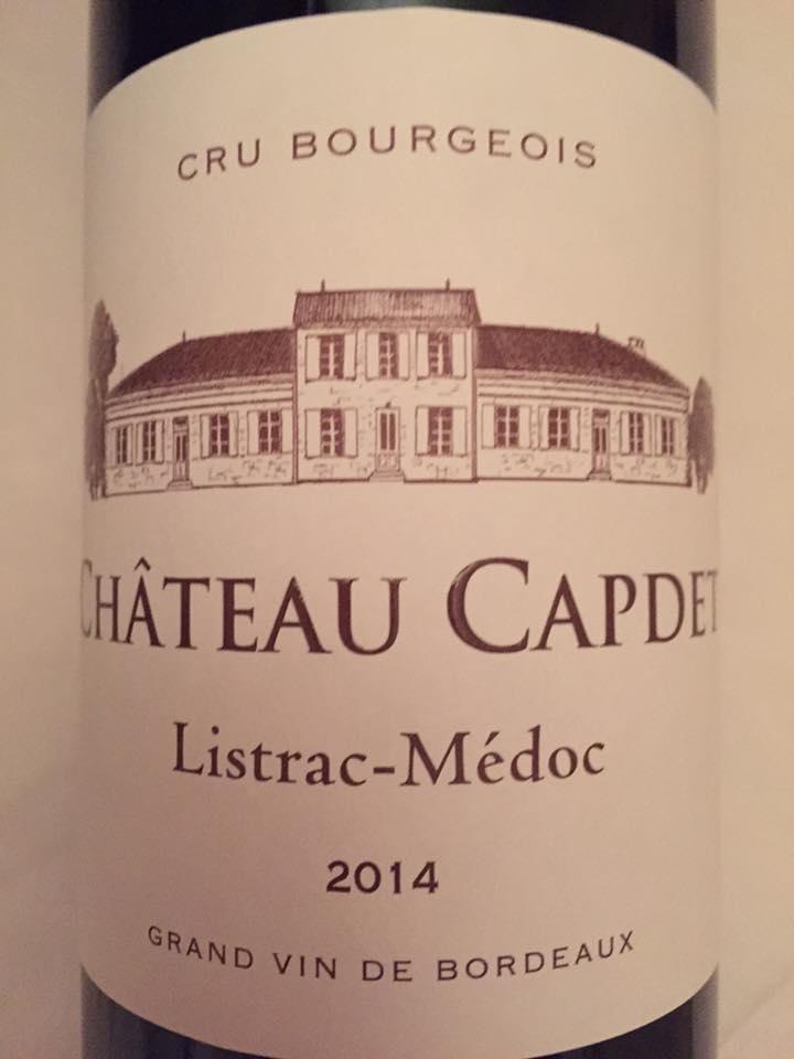 Château Capdet 2014 – Listrac-Médoc – Cru Bourgeois