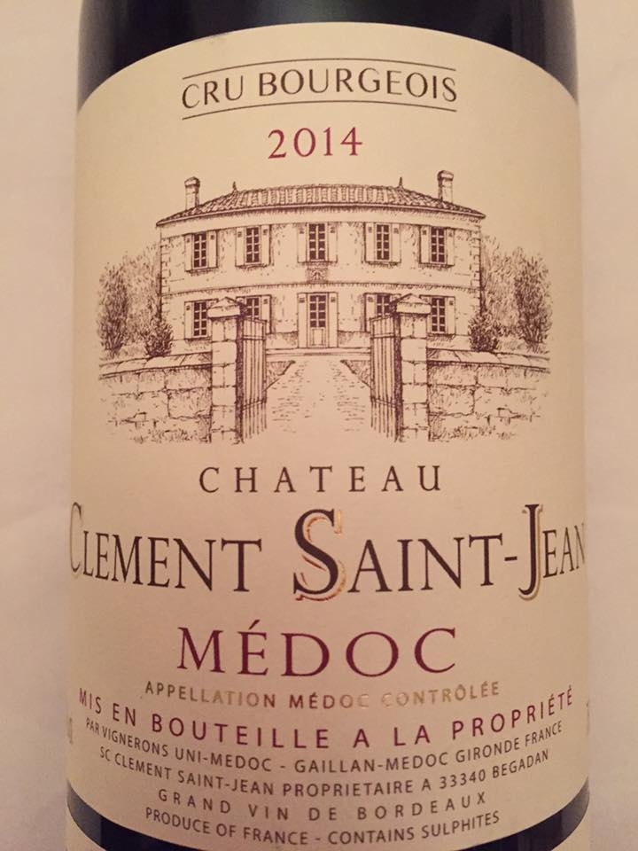 Château Clément Saint-Jean 2014 – Médoc – Cru Bourgeois