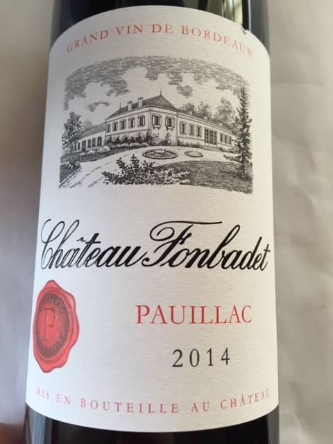 Château Fonbadet 2014 – Pauillac– Cru Bourgeois