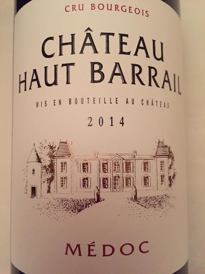 Château Haut Barrail 2014 – Médoc – Cru Bourgeois