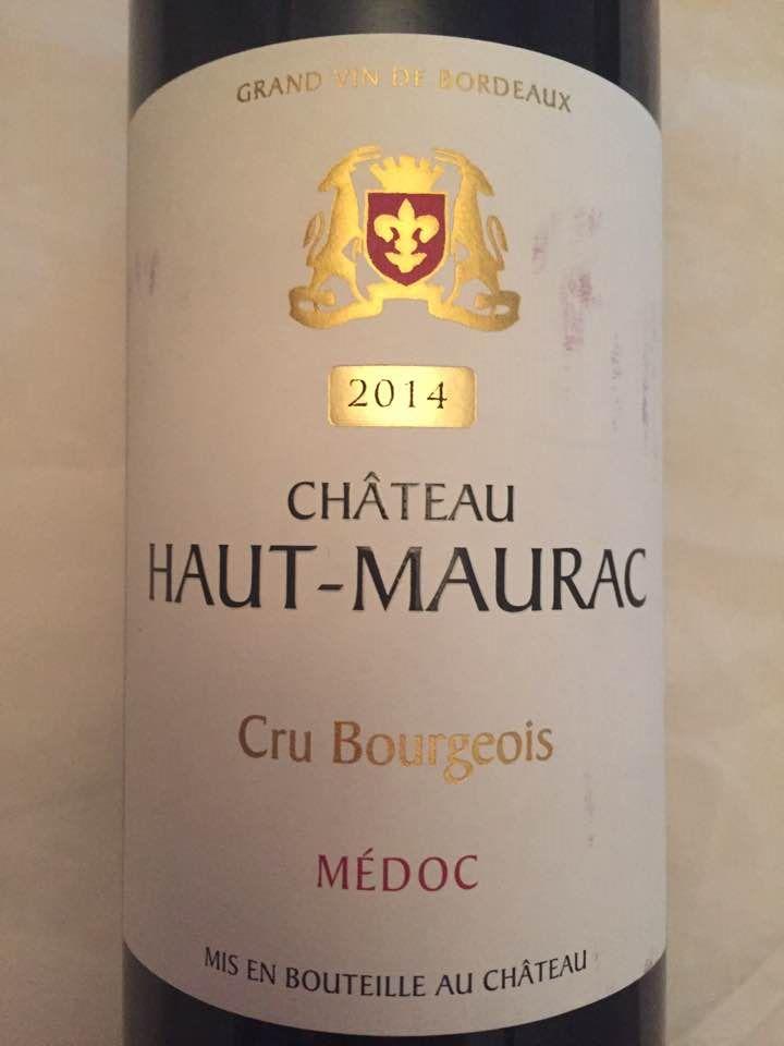 Château Haut-Maurac 2014 – Médoc – Cru Bourgeois