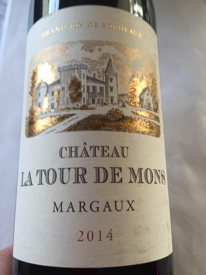 Château La Tour de Mons 2014 – Margaux – Cru Bourgeois
