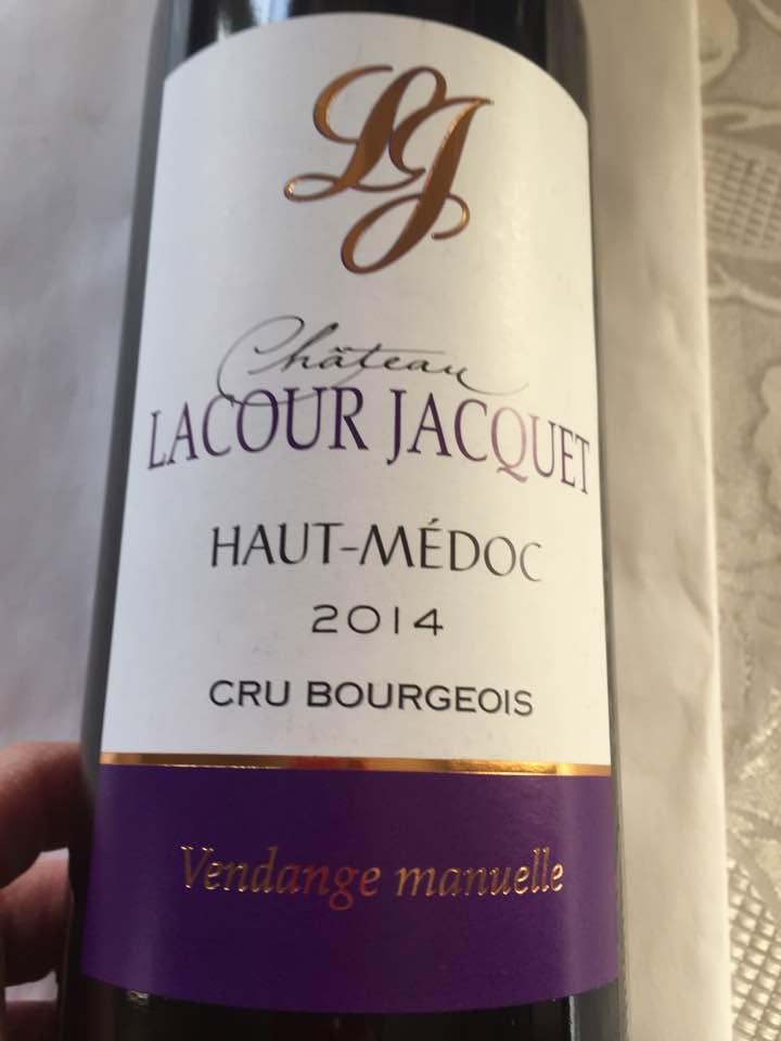Château Lacour jacquet 2014 – Haut-Médoc – Cru Bourgeois
