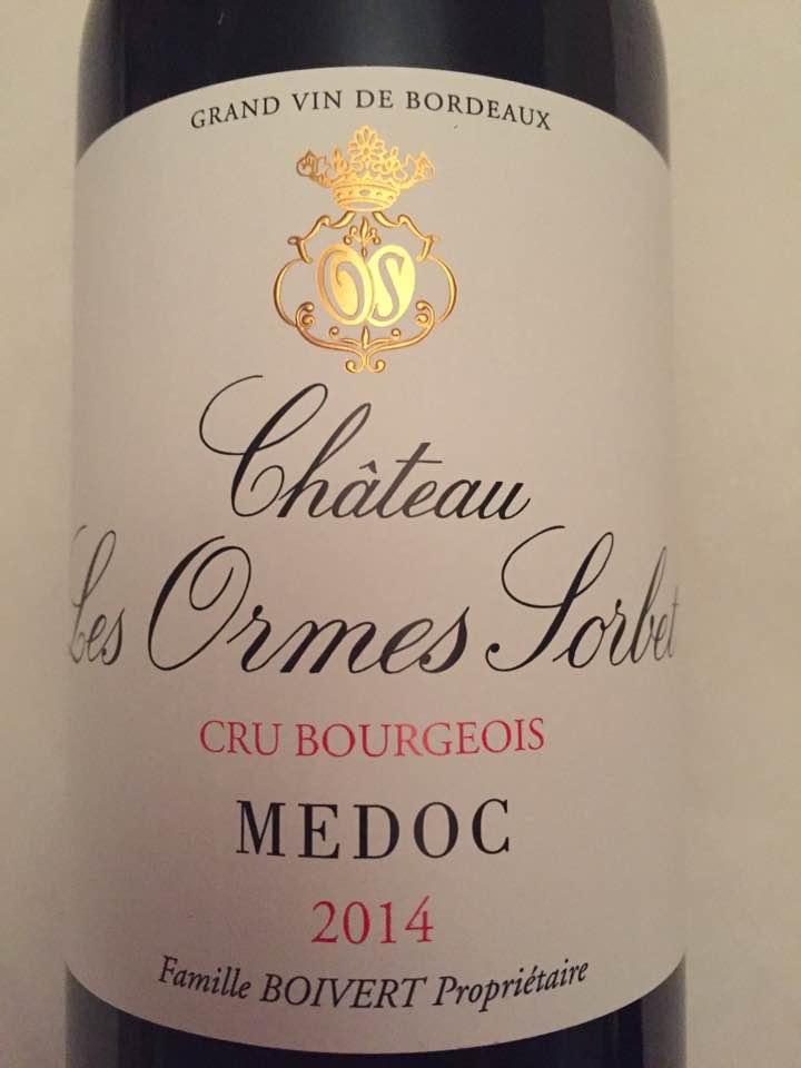Château Les Ormes Sorbet 2014 – Médoc – Cru Bourgeois