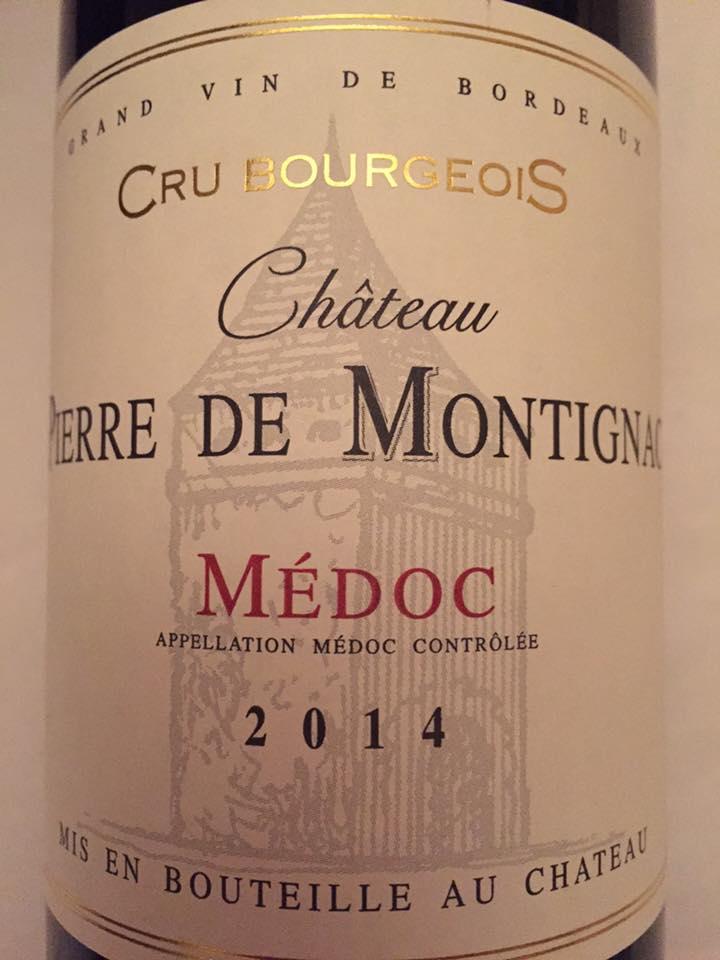 Château Pierre de Montignac 2014 – Médoc – Cru Bourgeois