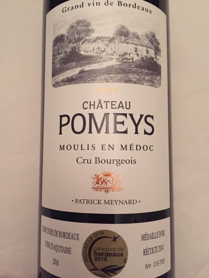 Château Pomeys 2014 – Moulis-en-Médoc – Cru Bourgeois