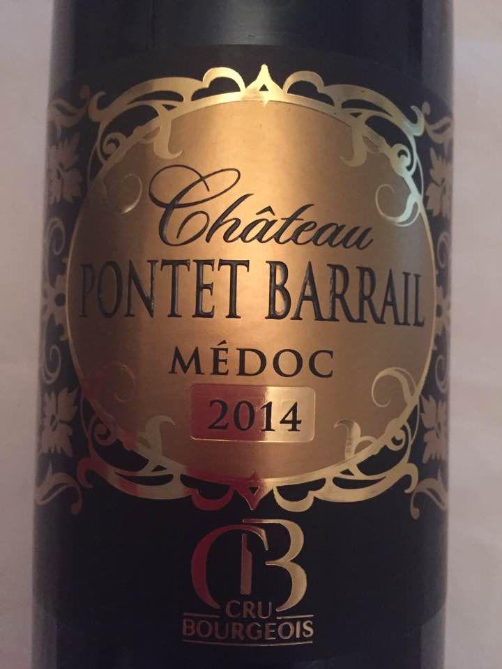 Château Pontet Barrail 2014 – Médoc – Cru Bourgeois