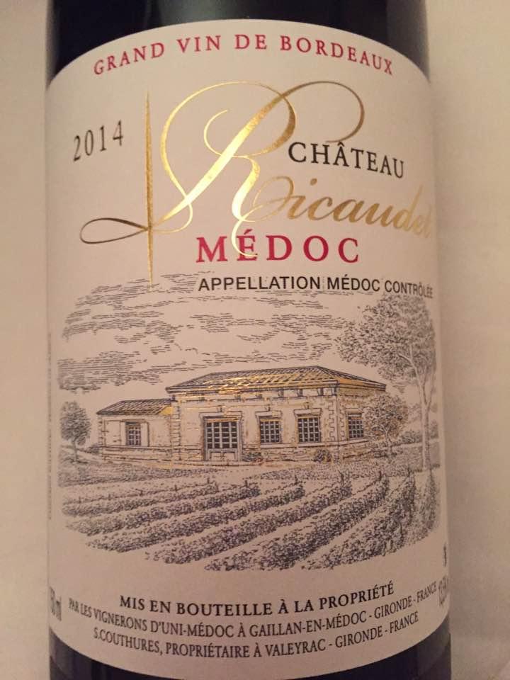 Château Ricaudet 2014 – Médoc – Cru Bourgeois
