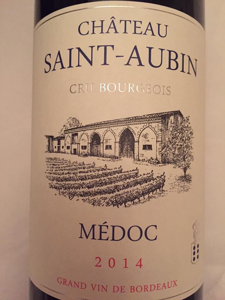 Château Saint-Aubin 2014 – Médoc – Cru Bourgeois