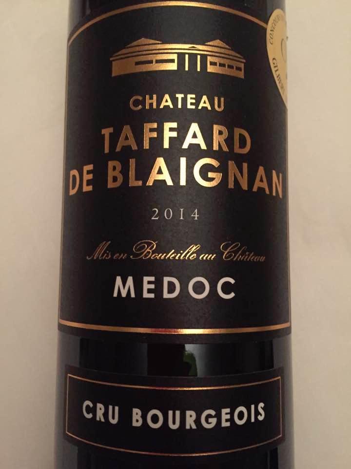 Château Taffard de Blaignan 2014 – Médoc – Cru Bourgeois