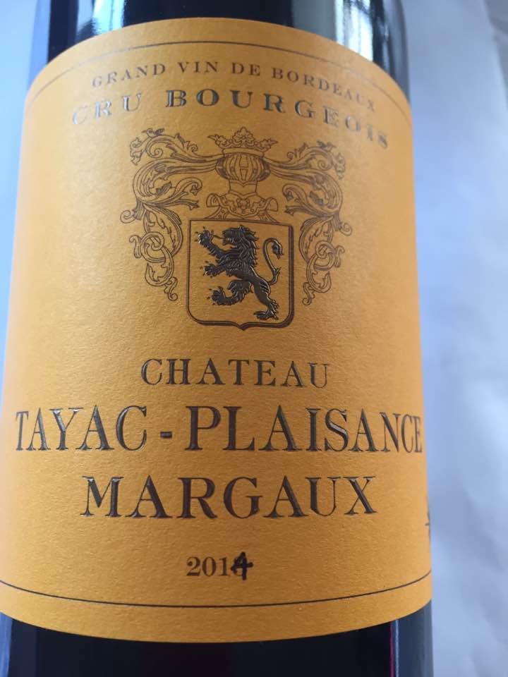 Château Tayac-Plaisance 2014 – Margaux– Cru Bourgeois
