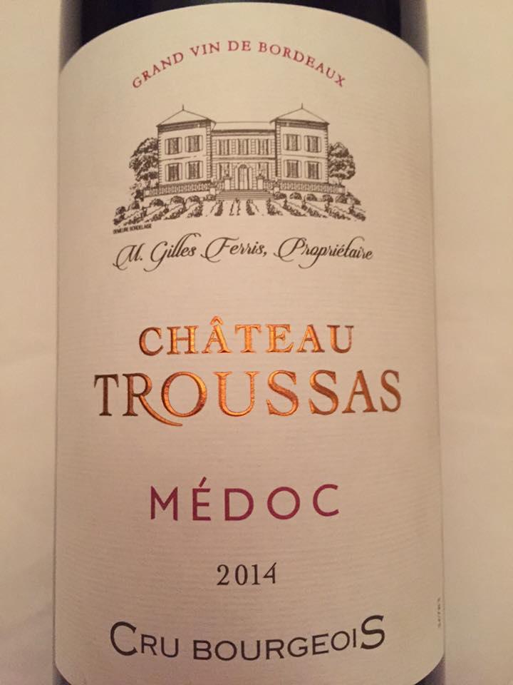 Château Troussas 2014 – Médoc – Cru Bourgeois