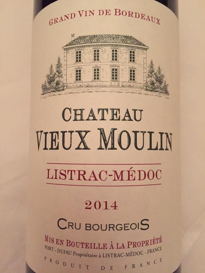Château Vieux Moulin 2014 – Listrac-Médoc – Cru Bourgeois