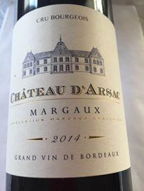 Château d'Arsarc 2014 – Margaux– Cru Bourgeois