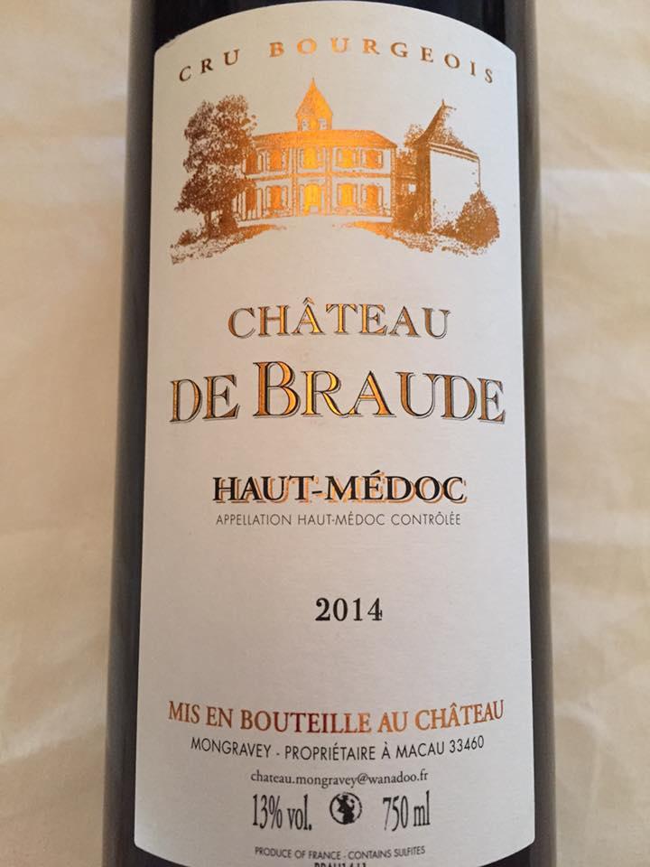 Château de Braude 2014 – Haut-Médoc – Cru Bourgeois