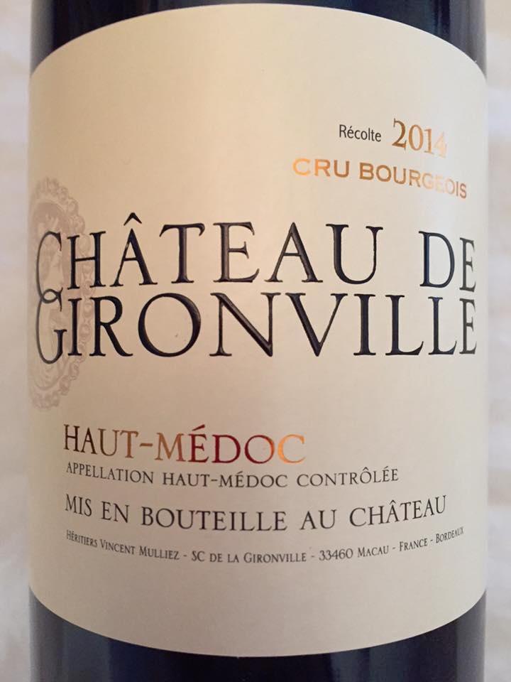 Château de Gironville 2014 – Haut-Médoc – Cru Bourgeois