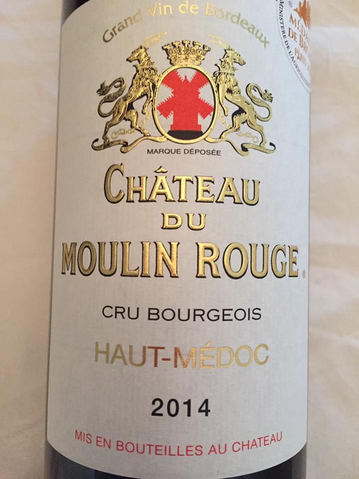 Château du Moulin Rouge 2014 – Haut-Médoc – Cru Bourgeois