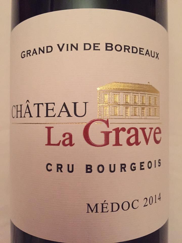 Château La Grave 2014 – Médoc – Cru Bourgeois
