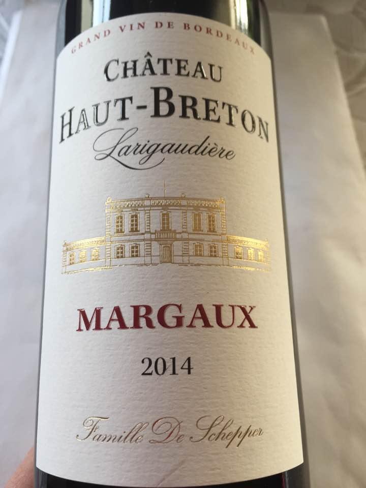 Château Haut-Breton Larigaudière 2014 – Margaux – Cru Bourgeois