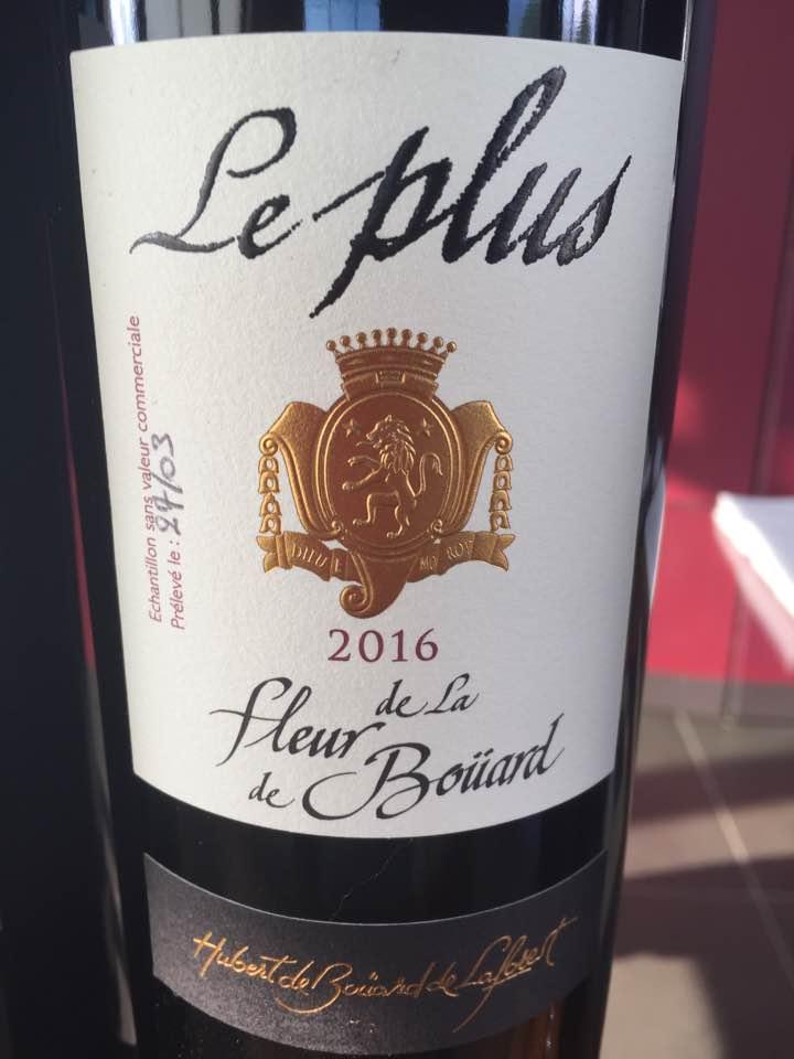 Le Plus de La Fleur de Bouard 2016 – Lalande-de-Pomerol