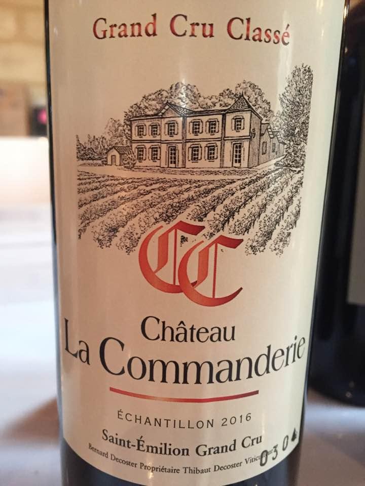 Château La Commanderie 2016 – Saint-Emilion Grand Cru Classé