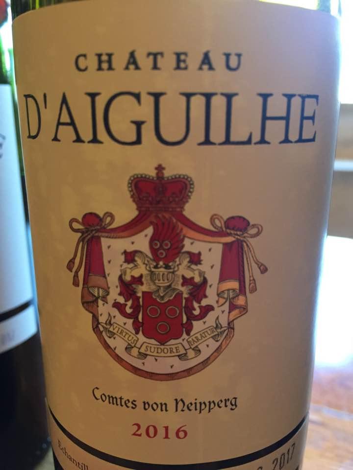 Château d'Aiguilhe 2016 – Castillon Côtes de Bordeaux