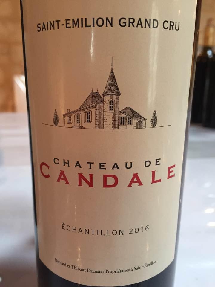Château de Candale 2016 – Saint-Emilion Grand Cru