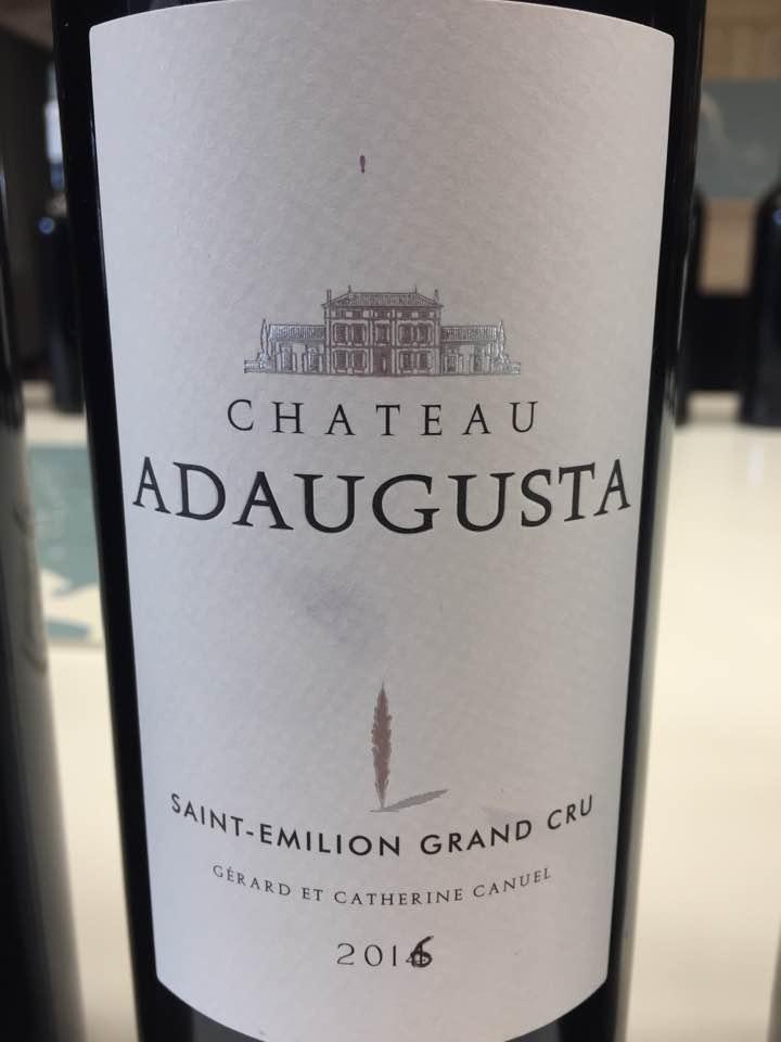 Château Adaugusta 2016 – Saint-Emilion Grand Cru