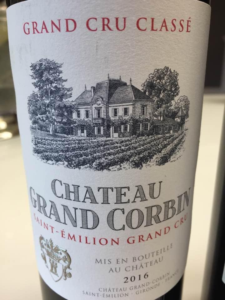 Château Grand Corbin 2016 – Saint-Emilion Grand Cru Classé