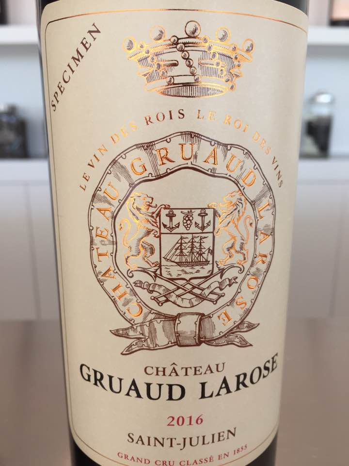 Château Gruaud Larose 2016 – 2ème Grand Cru Classé de Saint-Julien