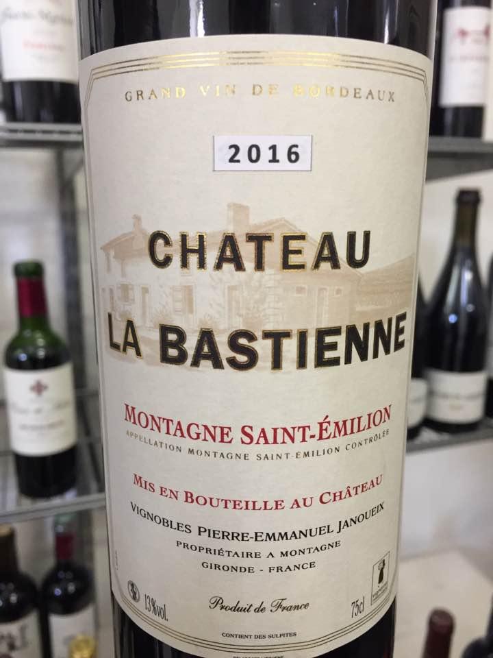 Château la Bastienne 2016 – Montagne Saint-Emilion