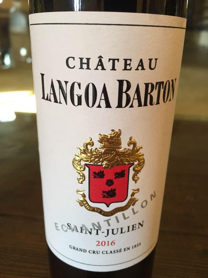 Château Langoa Barton 2016 – Saint-Julien, 3ème Cru Classé