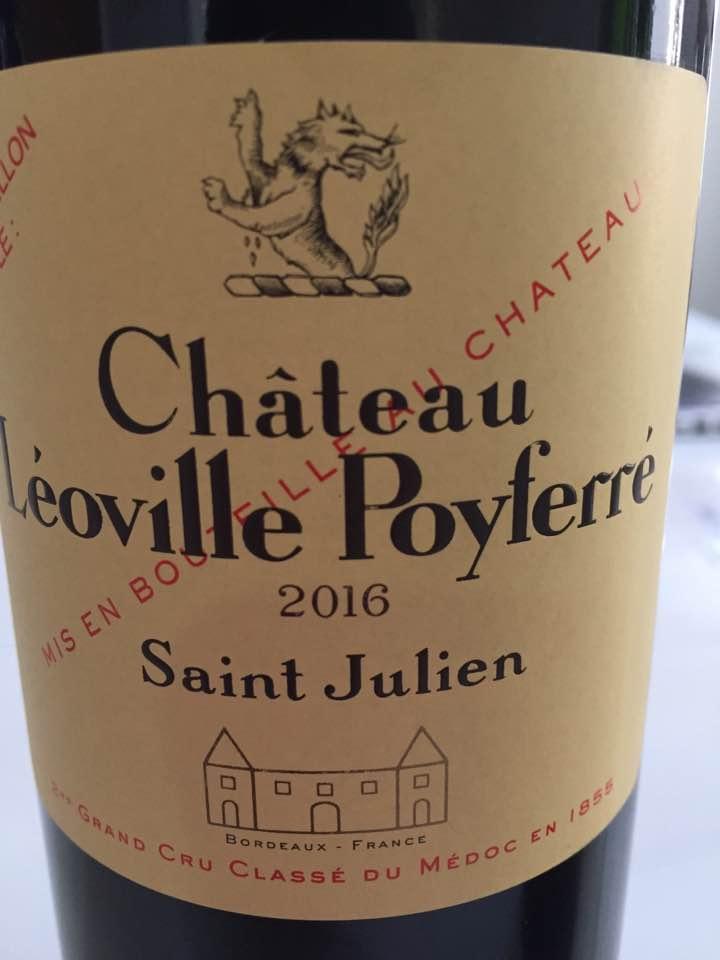 Château Léoville Poyferré 2016 – Saint-Julien, 2ème Cru Classé