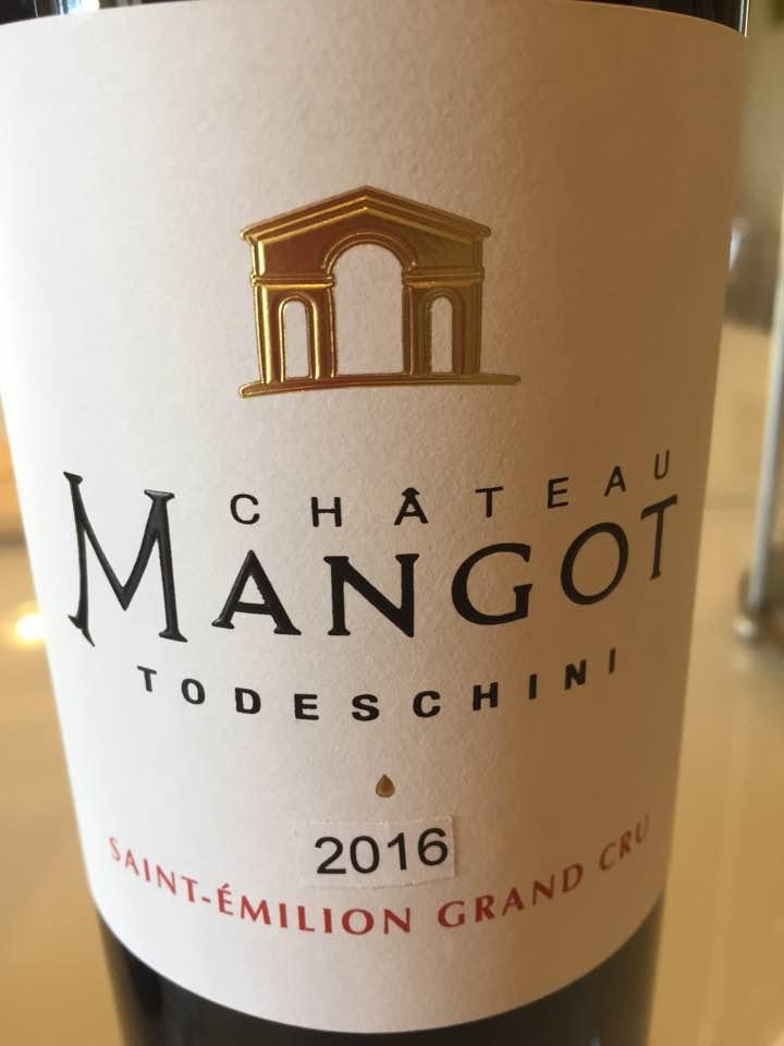 Château Mangot – Cuvée Todeschini 2016 – Saint-Emilion Grand Cru