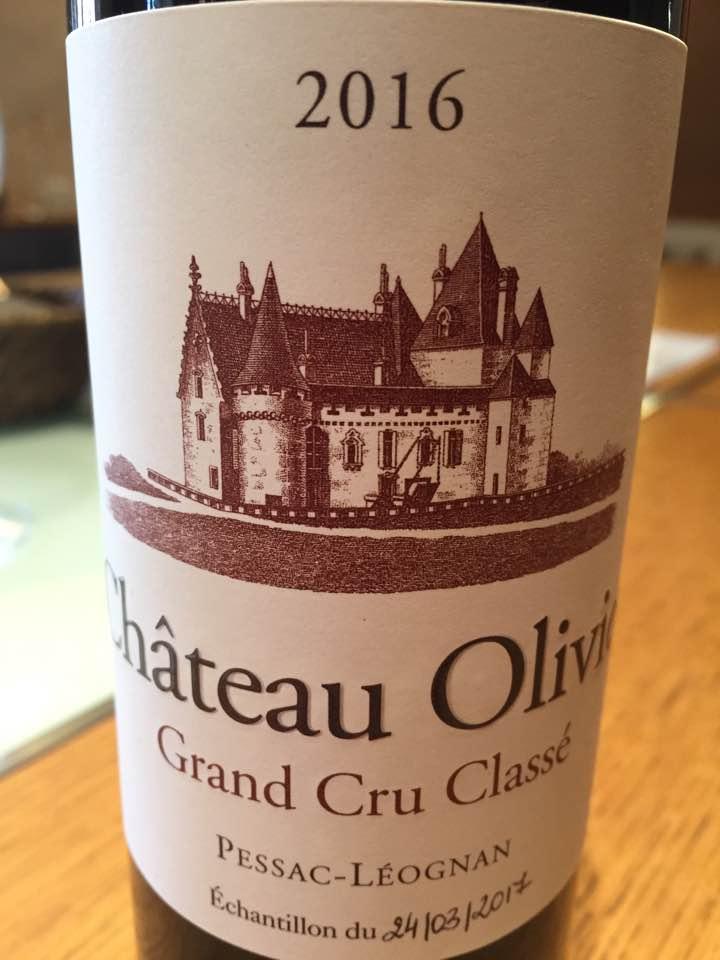 Château Olivier 2016 – Pessac-Léognan Grand Cru Classé