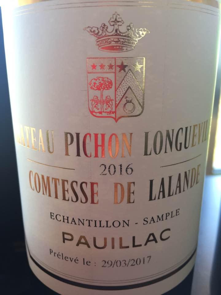Château Pichon Longueville Comtesse de Lalande 2016 – Pauillac – Grand Cru Classé