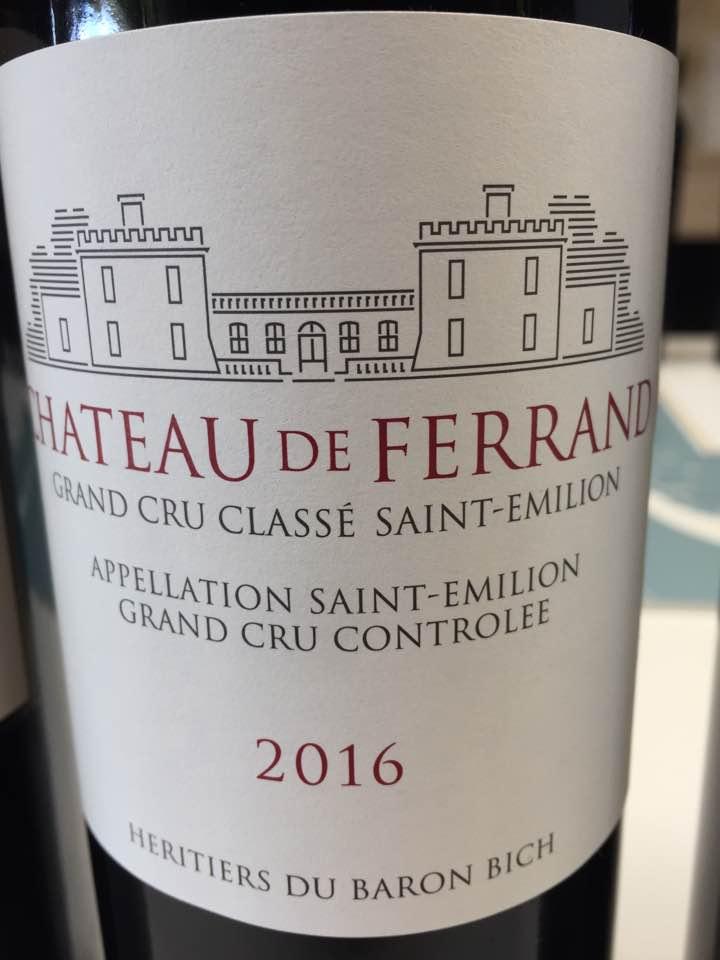 Château de Ferrand 2016 – Saint-Emilion Grand Cru Classé