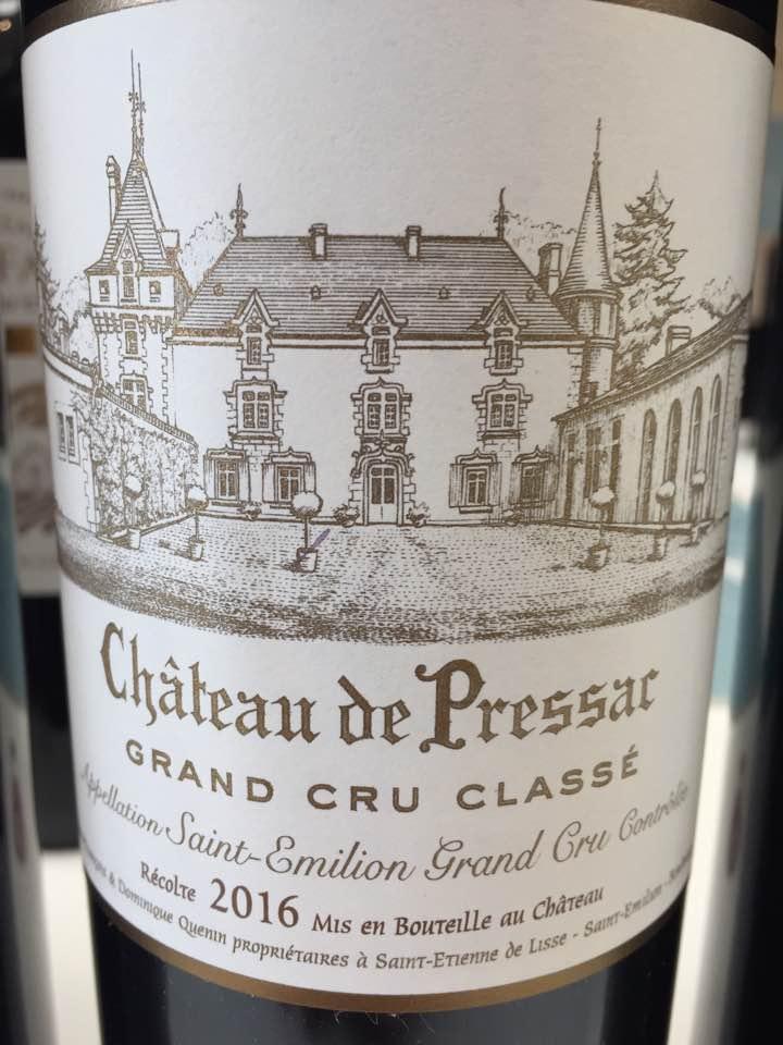 Château de Pressac 2016 – Saint-Emilion Grand Cru Classé