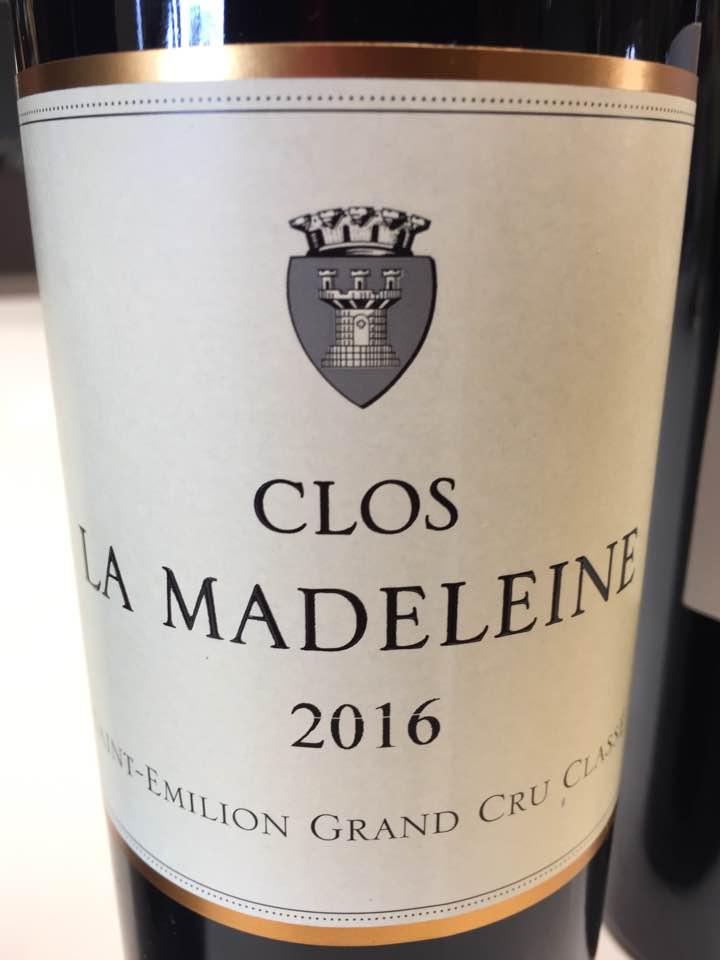 Clos La Madeleine 2016 – Saint-Emilion Grand Cru