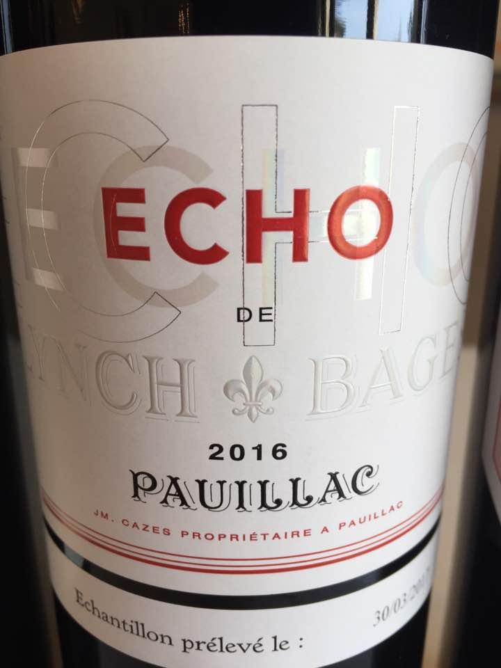 Echo de Lynch-Bage 2016 – Pauillac