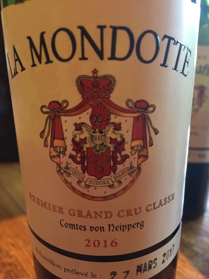 La Mondotte 2016 – 1er Grand Cru Classé B, Saint-Emilion Grand Cru