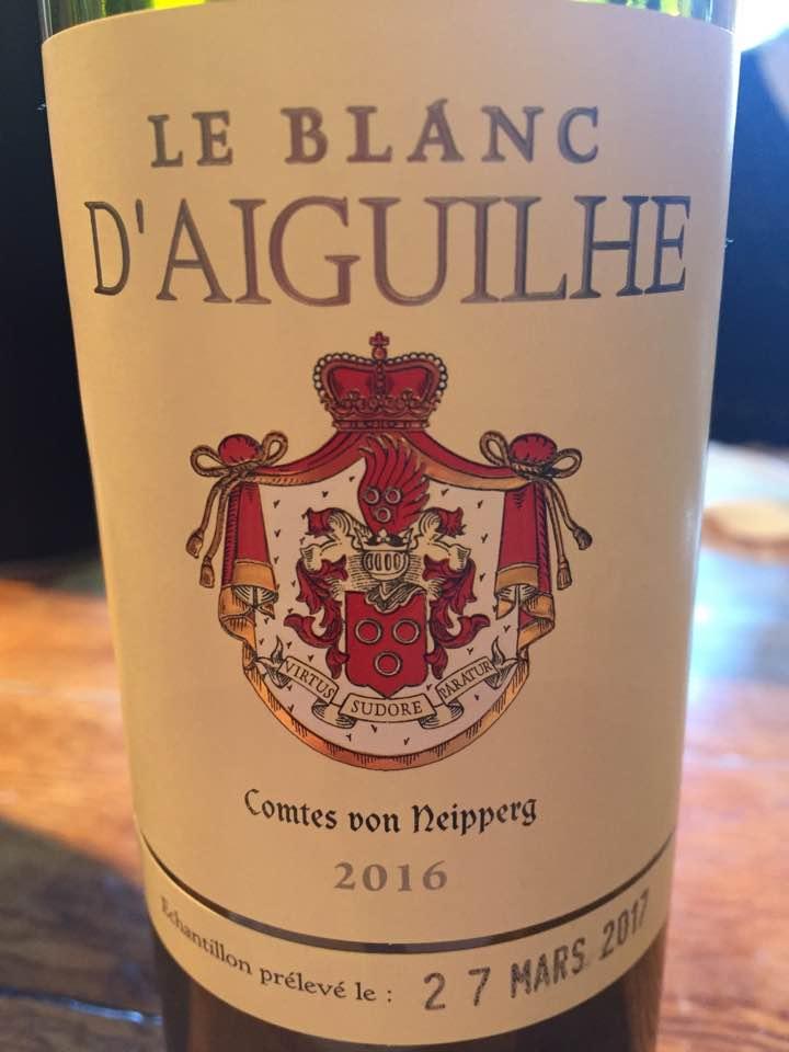 Le Blanc d'Aiguilhe 2016 – Bordeaux blanc