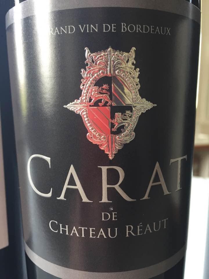 Carat de Château Reaut 2016 – Premières Côtes de Bordeaux